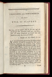 Thoughts And Sentiments On The Evil & Wicked Traffic Of The Slavery & Commerce Of The Human Species -Page 1